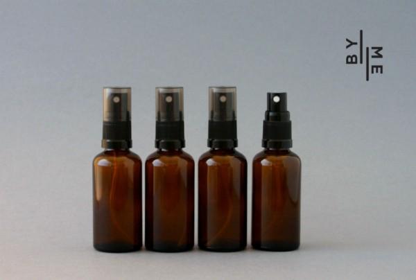 50ml amber glass fine mist spray bottles
