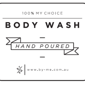 ByMe body wash decal - white
