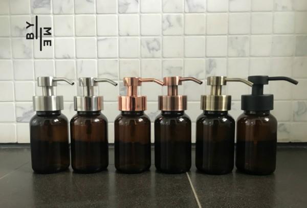 Glass foaming soap dispensers