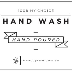 ByMe white designer decal - Hand wash
