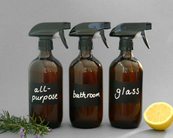 3 Amber Spray Bottles