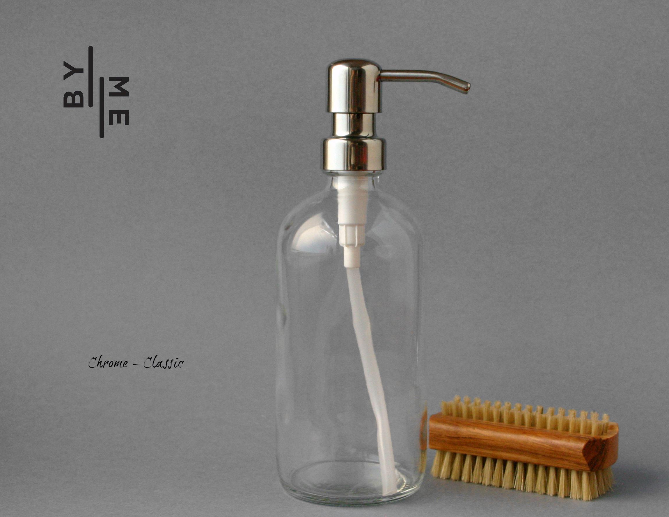 Clear Bottle - Chrome
