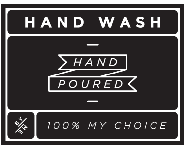 ByMe black designer decal - hand wash