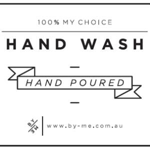ByMe white designer decal - Hand wash
