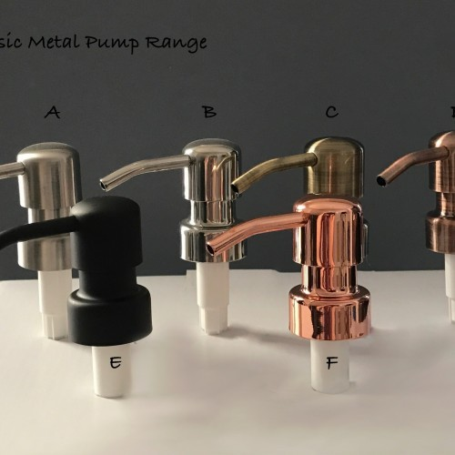 Real Metal Soap Pumps