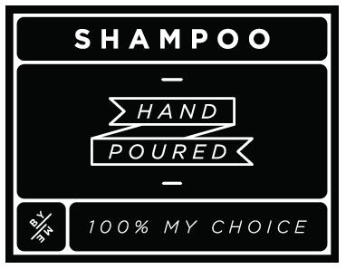 Small waterproof shampoo decal black