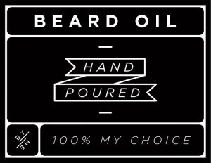 Mini Black Beard Oil Decal