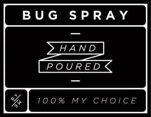 Mini Black Bug Spray Decal