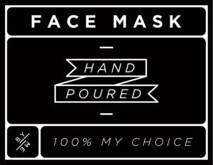 Mini Black Face Mask Decal