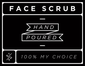 Mini Black Face Scrub Decal