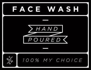 Mini Black Face Wash Decal