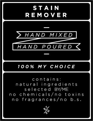 Medium Black Stain Remover Decal