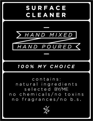 Medium Black Surface Cleaner Decal