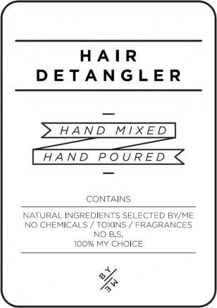 Medium White Hair Detangler Decal