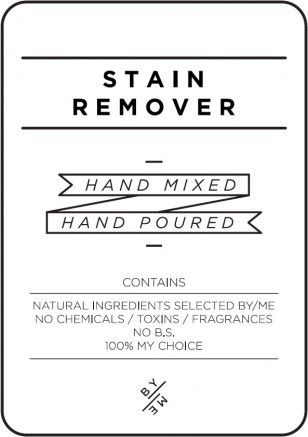 Medium White Stain Remover Decal