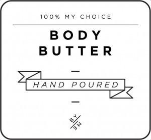 Mini White Body Butter Decal