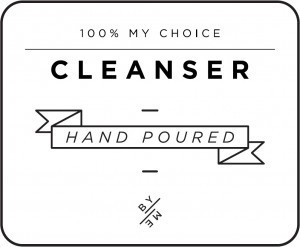 Mini White Cleanser Decal