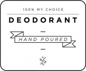 Mini White Deodorant Decal