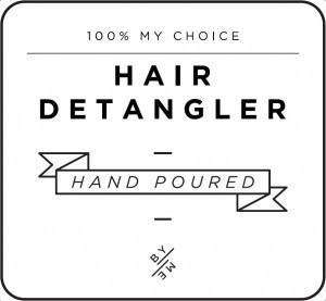 Mini White Hair Detangler Decal
