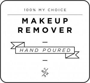Mini White Makeup Remover Decal