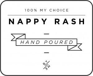 Mini White Nappy Rash Decal