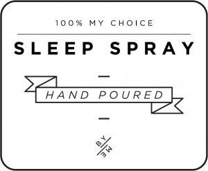 Mini White Sleep Spray Decal