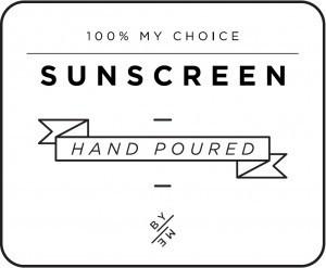 Mini White Sunscreen Decal