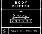 Small Black Body Butter Decal