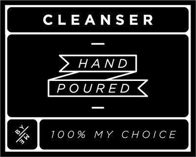 Small Black Cleanser Decal