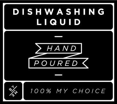 Small Black Dishwashing Liquid Decal