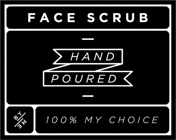 Small Black Face Scrub Decal
