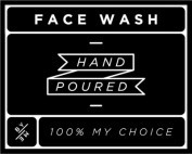 Small Black Face Wash Decal