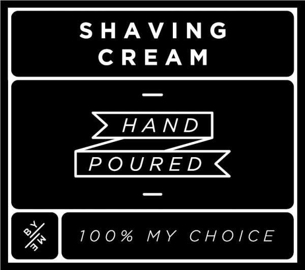 Small Black Shaving Cream Decal