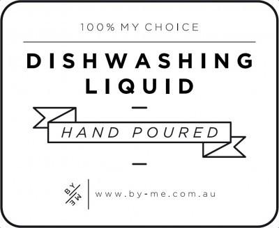 Small White Dishwashing Liquid Decal