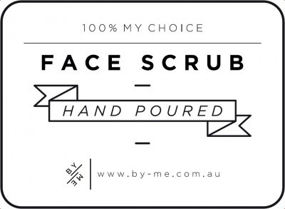 Small White Face Scrub Decal
