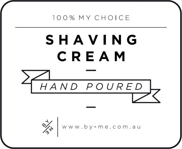 Small White Shaving Cream Decal