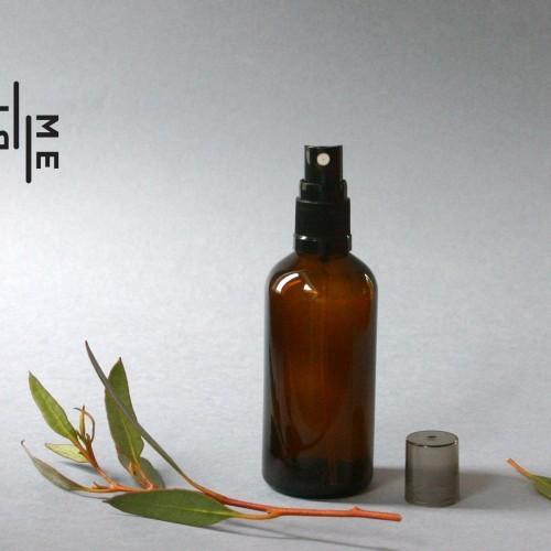 100ml amber glass spray bottle