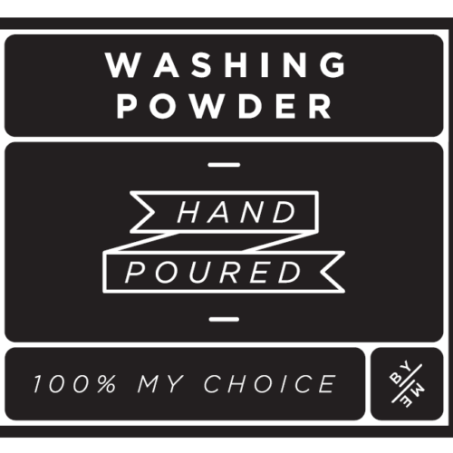 Washing Powder Decal Black LARGE