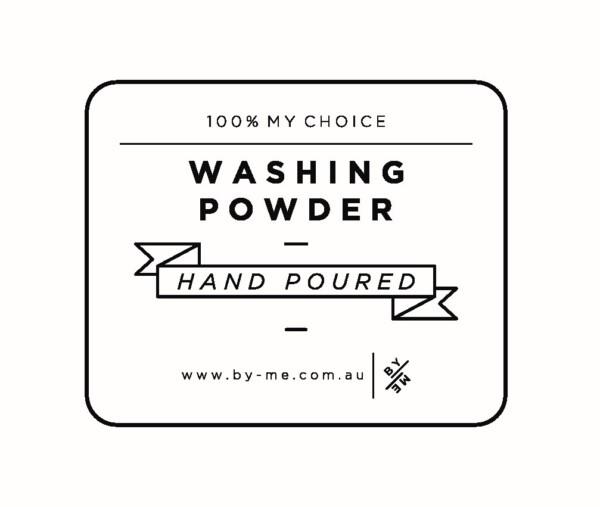 Washing powder label